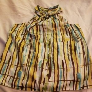 The Limited halter multi colored blouse